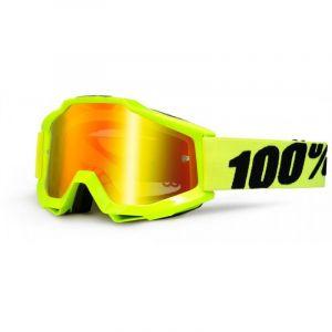 100% Masque accuri jaune écran rouge