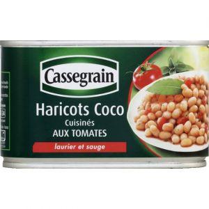 Cassegrain Haricots coco cuisinés, aux tomates, laurier et sauge - La boîte de 445g