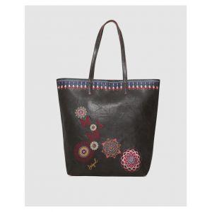 Desigual Bag Chandy Rio Zipper Women, Sacs portés épaule femme, Noir (Negro), 12x37x29 cm (B x H T)