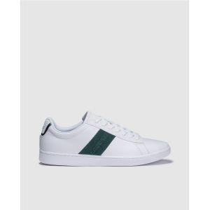 Lacoste Chaussures sport avec bande et logo sur le côté. Modèle CARNABY. Blanc - Taille 42,5