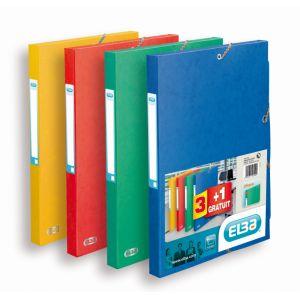 Elba 3 boîtes en cartons + 1 gratuite, 24x32cm, dos 2,5cm