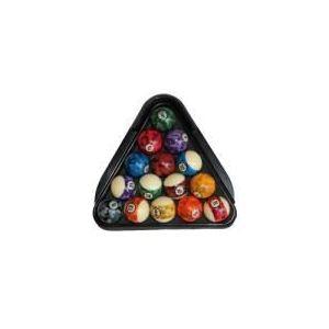 Triangle de billard en plastique avec support pour billes de 57 mm