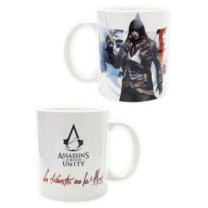 Abystyle Mug Assassin's Creed Unity Arno Dorian et Slogan 320 ml