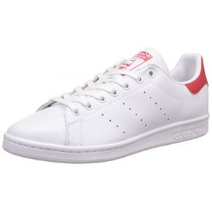 Adidas Originals Stan Smith Blanche Et Rouge Baskets/Tennis