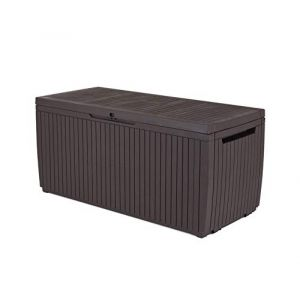 Keter Support et boîte de style universel en bois, Springwood, 305 l, marron