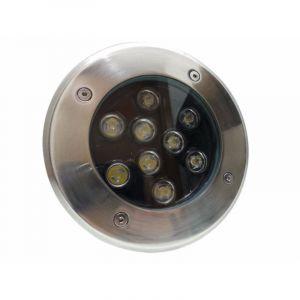 Silamp Spot LED Encastrable Extérieur IP65 220V Sol 9W 60° - Blanc Chaud 2300K - 3500K -