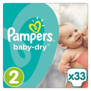 Pampers Baby Dry taille 2 (3-6 kg) - 33 couches