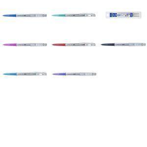 Uni Ball Recharge pour stylo effaçable Uniball TSI bleu pointe moyenne 0,7 mm - Pochette de 3