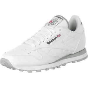 Reebok CL Leather SPP - Basket Mode - Homme - Blanc (Intense White/Light Grey) - 43 EU