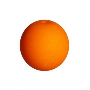Panduro Perles luminescentes orange - 4 mm - Perles luminescentes Orange - En verre - Visibles aux rayons UV - Trou 0,5 mm - Sachet de 50 pièces.