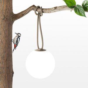 Fatboy BOLLEKE - Suspension LED rechargeable d'extérieur Taupe Ø20cm - Luminaire d'extérieur designé par Nathalie Schelleskens