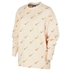Nike Sweat métallisé imprimé Sportswear Rally pour Femme - Crème - Taille XS