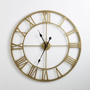 Horloge en métal coloris laiton, Zivos Laiton Taille Taille Unique