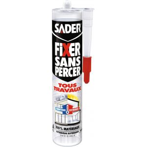 Sader Fixer sans percer invisible bg cartouche 290 ml -