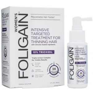 Foligain Lotion pour la Repousse des Cheveux Femmes - Trioxidil 10%