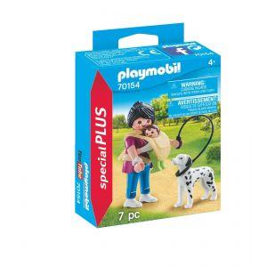 Playmobil 70154 - Maman Avec Bébé Et Chien