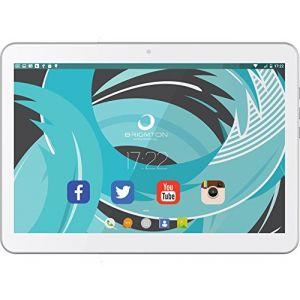 Brigmton Tablette BTPC-1021QC 10in 16 GB 3G / Wifi Quad Core Blanc