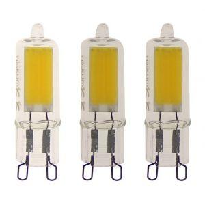 Xanlite Lot de 3 ampoule capsule LED - culot G9 - 200 lumens - blanc chaud TOULUM