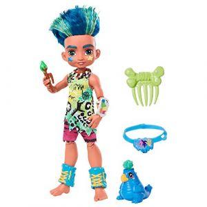 Mattel Poupée cave club 20 cm - Slate + accessoires