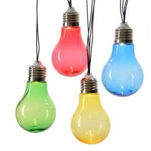Guirlande l ineuse solaire 10 ampoules Led Multicolore