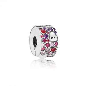 Pandora Charm Amour 797838CZRMX - Charm Coeurs Stylisés Femme