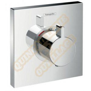 Hansgrohe Set finition mitigeur thermostatique encastré ShowerSelect chromé