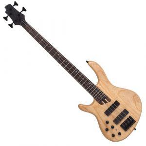 Cort B4 Guitare basse électrique Gaucher Naturel Pores ouverts