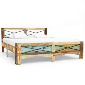 VidaXL Cadre de lit Bois de récupération massif 160 x 200 cm