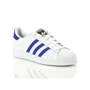 Adidas Superstar, Sneakers Basses Mixte Adulte, Blanc (Footwear White/Bold Blue), 36 EU