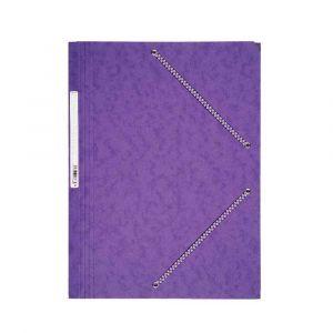 Coutal Chemise 3 rabats à élastique en carte lustrée rigide, 5/10ème, 340g. Coloris Violet.