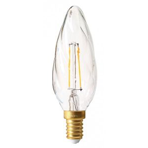 Girard sudron Flamme torsadée claire filament LED 2W E14