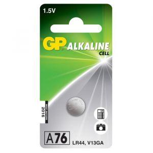 GP Piles Bouton Alcaline Spéciales A76 / LR44 - Blister de 1 pile