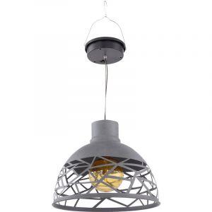 Globo LED lampe suspendue solaire plafond pendentif spot extérieur ambre jardin terrasse balcon lampe 33636