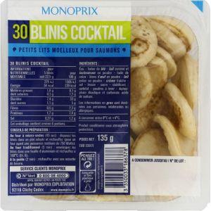 Monoprix Blinis cocktail