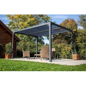 Habrita Pergola Bioclimatique Aluminium 10.80 m² Anthracite