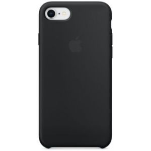 Apple Coque en silicone Noir iPhone 8 / 7