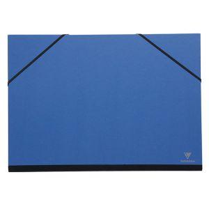 Clairefontaine Carton à dessin à élastiques 37 x 52 cm Bleu nuit