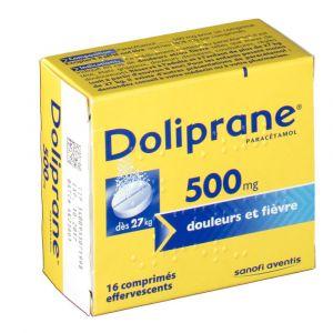 Sanofi Doliprane 500 mg - 16 Comprimés effervescents