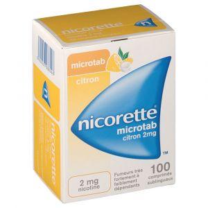 Johnson & Johnson Nicorette microtab citron 2 mg - 30 Comprimés sublinguaux