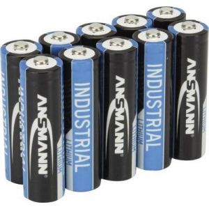 Ansmann Pack de 10 piles Industrielle au Lithium 1,5V Mignon AA (LR06)