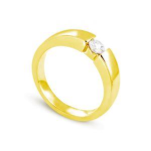 Image de Rêve de diamants 3612030095535 - Bague en or jaune sertie d'un diamant