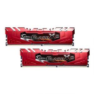 G.Skill Flare X Series rot, DDR4-2400 fur Ryzen, CL 16 - 32 GB D - F4-2400C16D-32GFXR