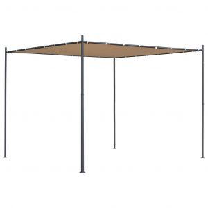 VidaXL Belvédère avec toit plat 3x3x2,4 m Beige 180 g/?