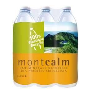Montcalm Bouteille d'Eau Minérale 1,5 L - Lot de 3