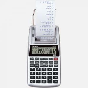 Canon Calculatrice de bureau avec imprimante P1-DTSC II argent (métallisé) à pile(s), sur secteur (en option)