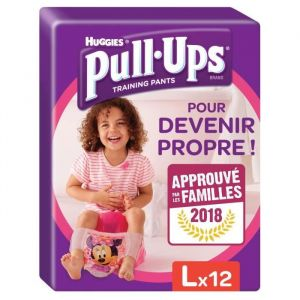 Huggies Pull-Ups taille 6 (16-23 kg) - 12 couches culottes - Fille