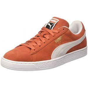 Puma Suede Classic, Sneakers Basses Mixte Adulte, Rouge (Burnt Ochre White), 45 EU