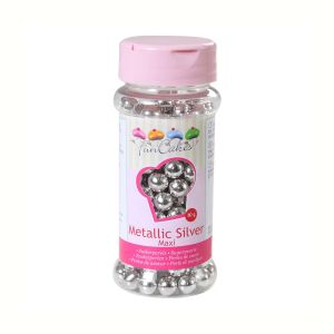 Image de FunCakes Perles de sucre 8 mm - argenté - 80g