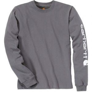 Carhartt Ek231. Nvy. S006 Sleeve Logo T-Shirt Large Bleu marine