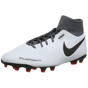 Nike Phantom Vsn Club DF FG/MG Chaussures de Fitness Mixte Adulte, Multicolore (Pure Platinum/Black/Lt Crimson/Dark Grey 060) 44 EU